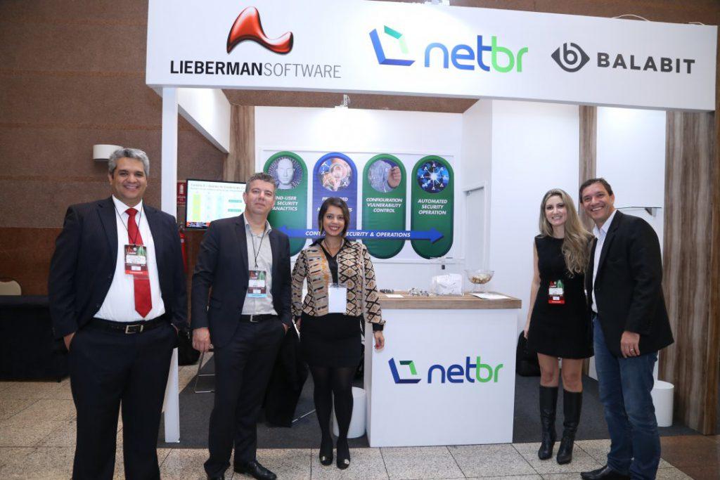 Equipe NetBr Carlos (Lieberman Software), Flavio Bontempo, Ayesha Miranda, Flavia Alves e Andre Facciolii